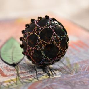 Rose Ground Bobbin Lace Ring