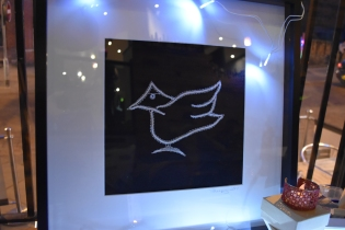 crafty crow in glow in dark lace